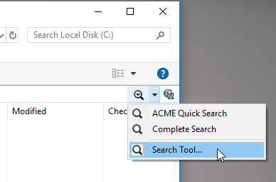 Open the Search Tool
