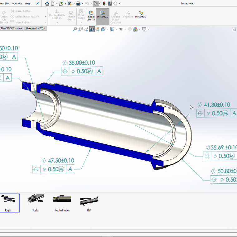 Product Manufacturing Information in SOLIDWORKS