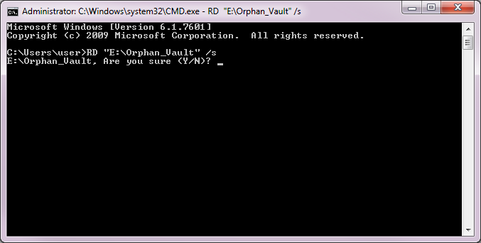 Remove Directory through Command Prompt