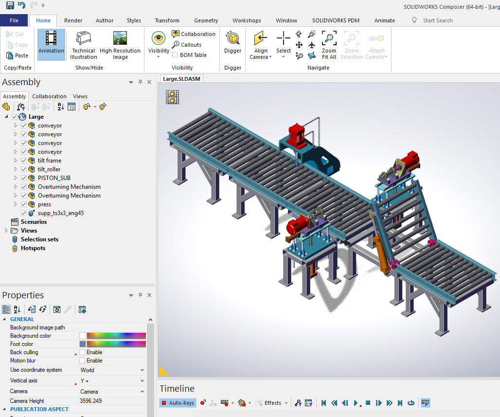 Large Assembly in Solidworks Composer