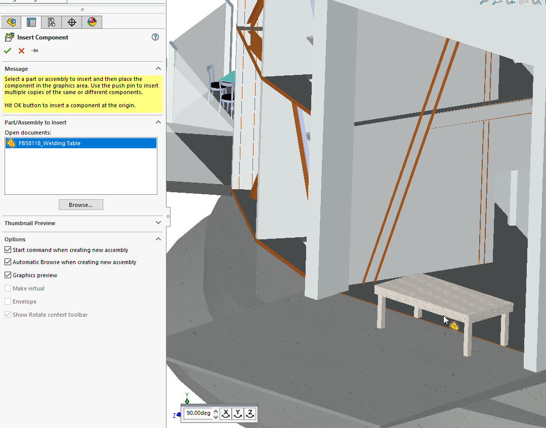 SOLIDWORKS 2019 Large Design Review - Insert Component