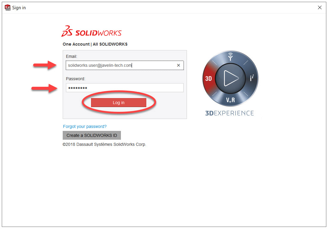 Sign in to SOLIDWORKS