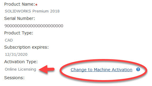 Change to Machine Activation