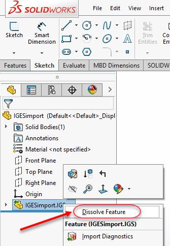 Dissolve Features