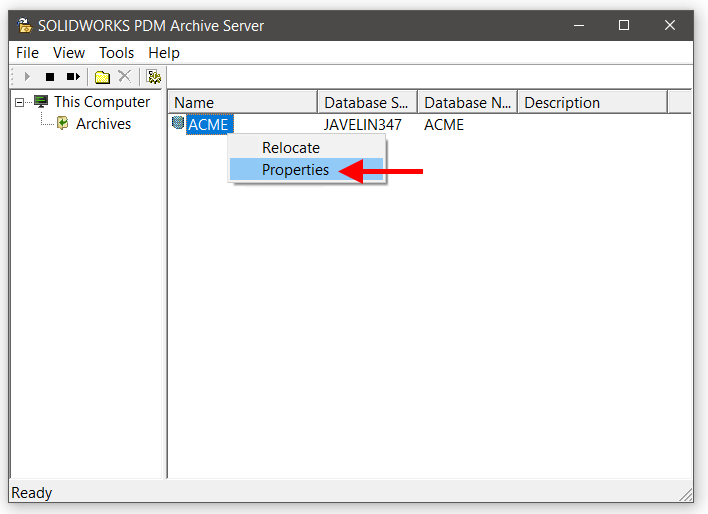 SOLIDWORKS PDM Backup Process