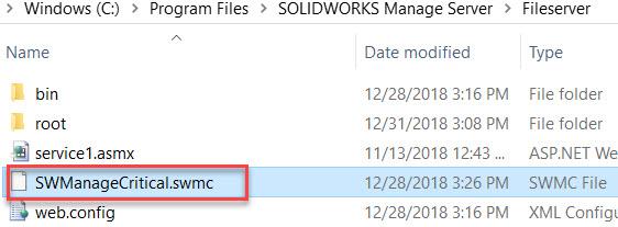 Select the swmc file