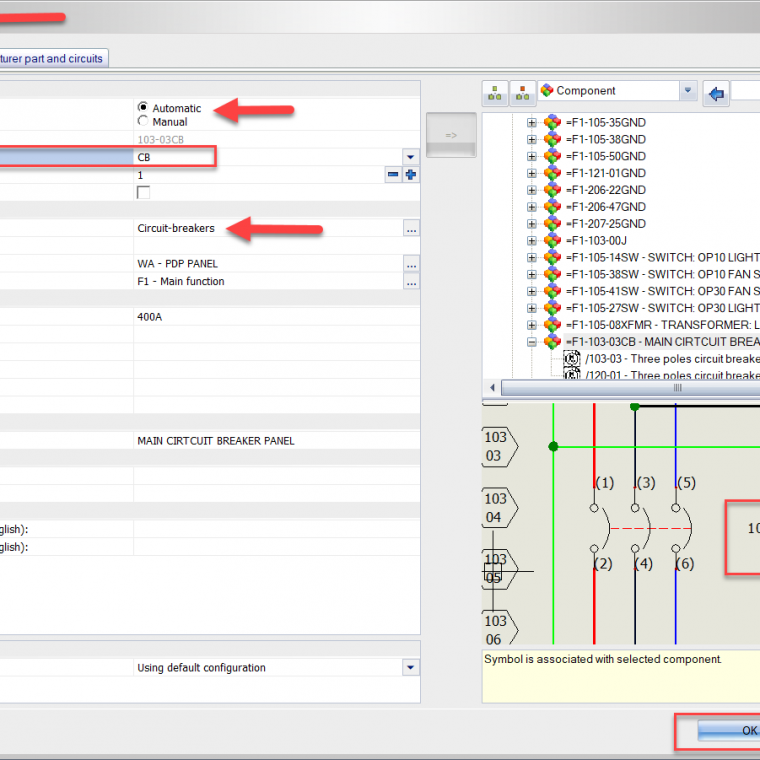 permanently changing the automatic root value for symbols in solidworks  electrical