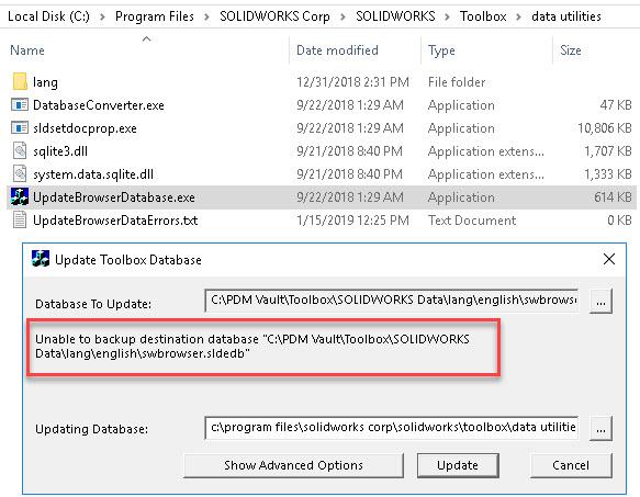 Unable to backup destination database
