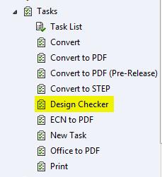 Design Checker Task in Task Node