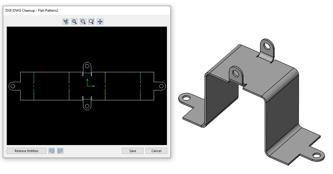 SOLIDWORKS DXF/DWG Export Cleanup