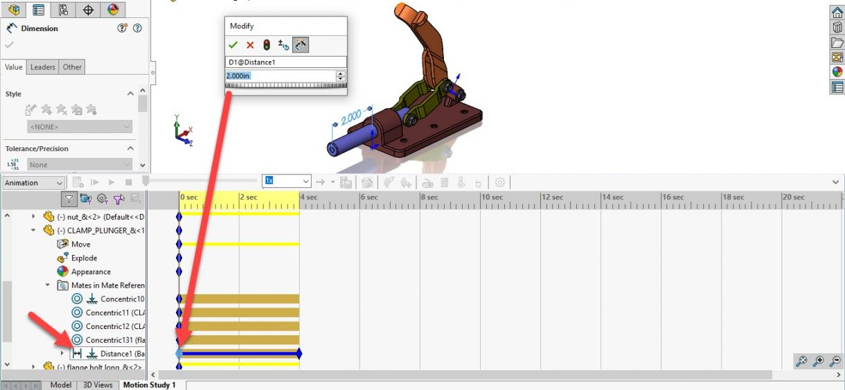 SOLIDWORKS Animation Mate Initial Key