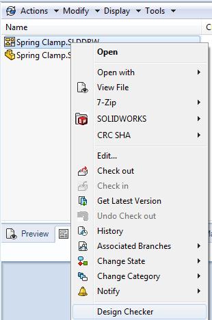 Launching Design Checker Task from File Explorer