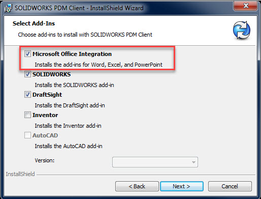 Microsoft Office SOLIDWORKS PDM Add-In Integration