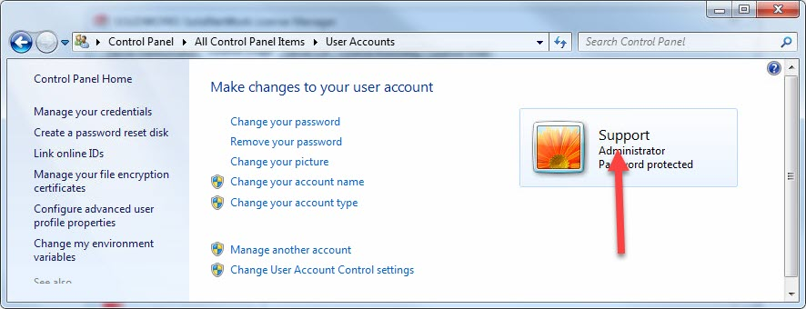 Windows User Account Name