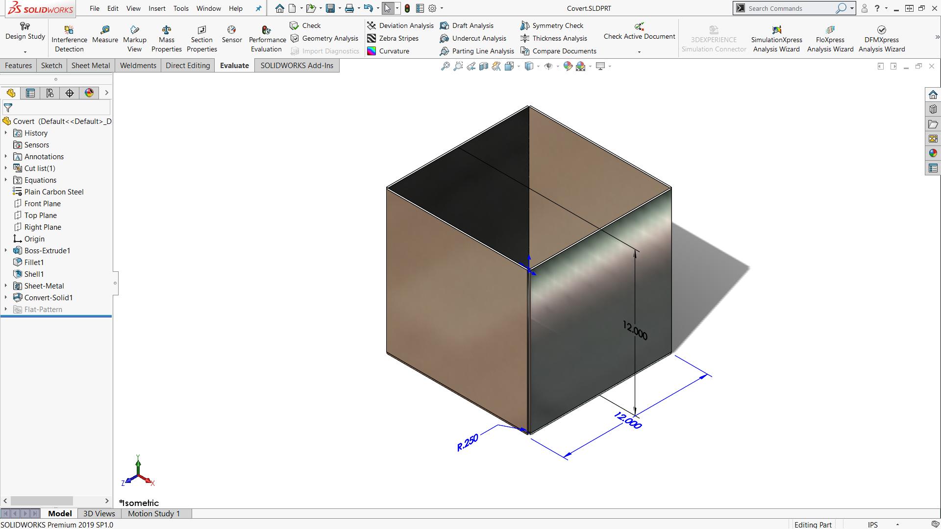 Solidworks Sheet Metal Vs Body Convert Part Creation Method