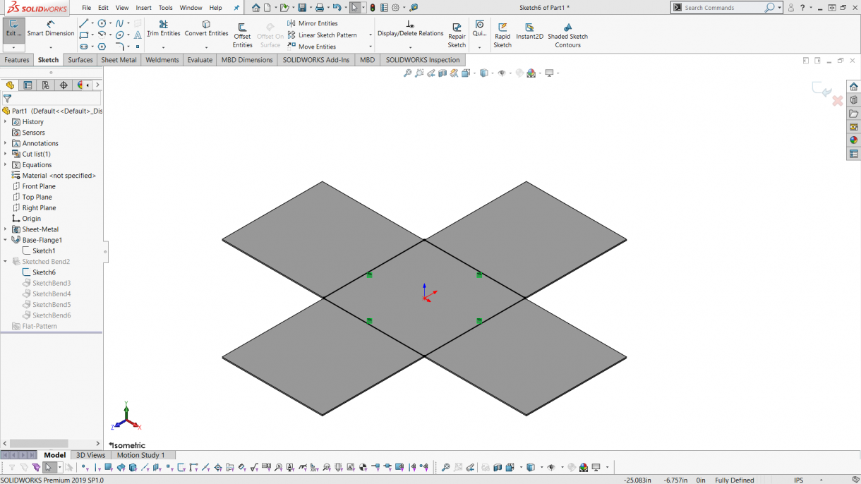 Box with created with Sketch Bends