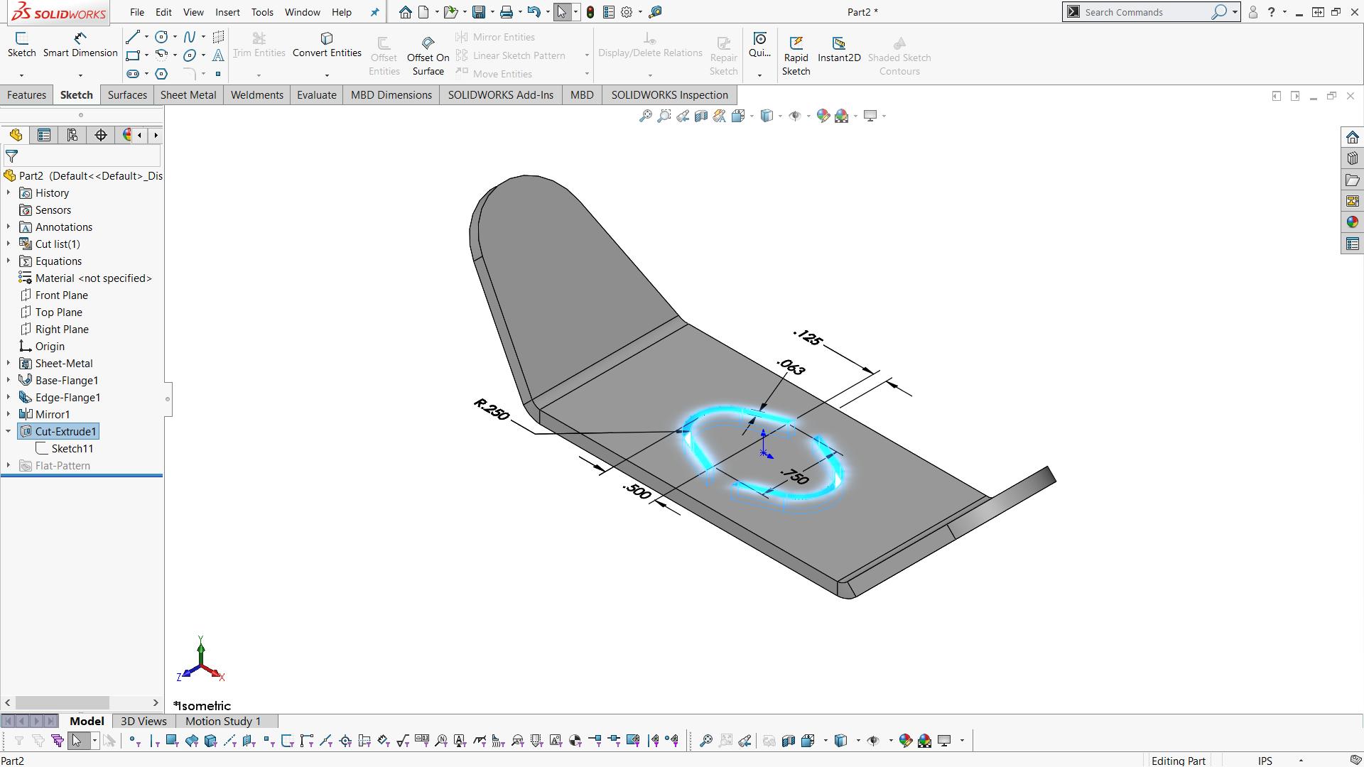 Solidworks Sheet Metal Sketch Bend Vs Edge Flange