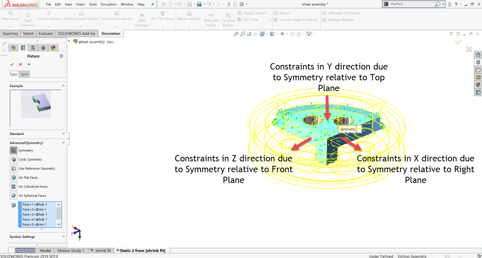 Applying the Symmetry Fixture Will Also Constrain the Models Normal to the Planes of Symmetry