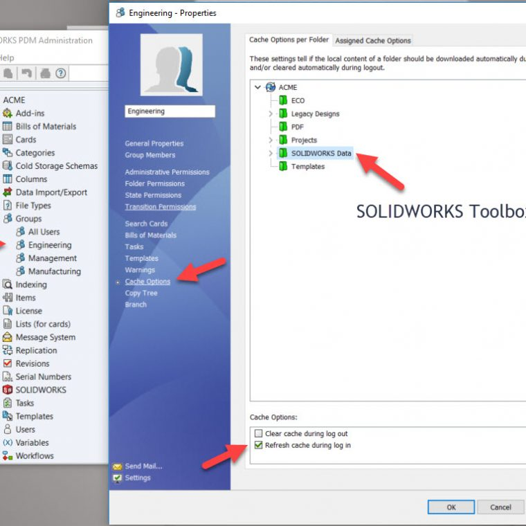 SOLIDWORKS Toolbox Resources including technical tips and