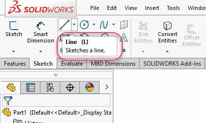 Line command icon