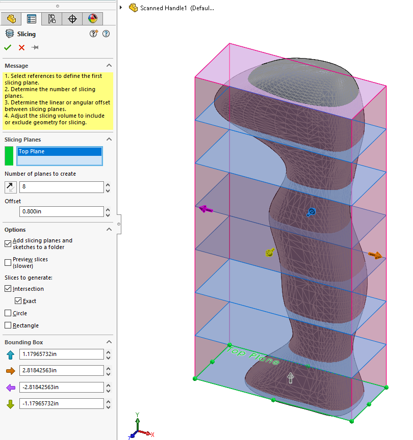 SOLIDWORKS Slicing Tool