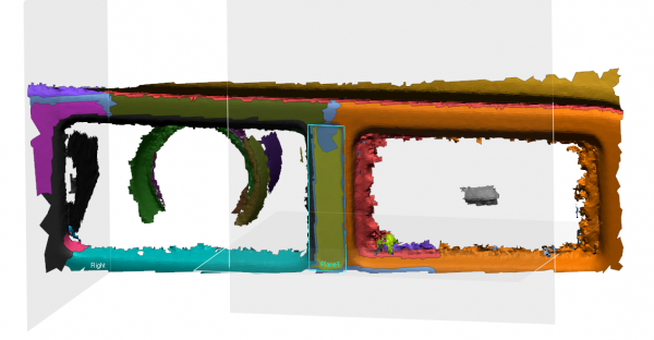 Auto Segmented mesh file with an extracted plane