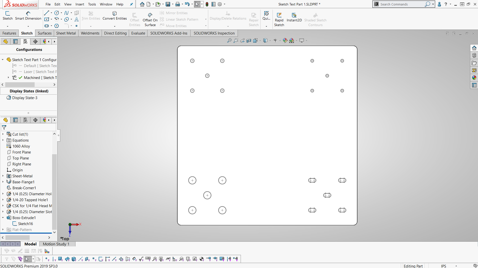 How To Create Etch Marks In Solidworks Sheet Metal Parts