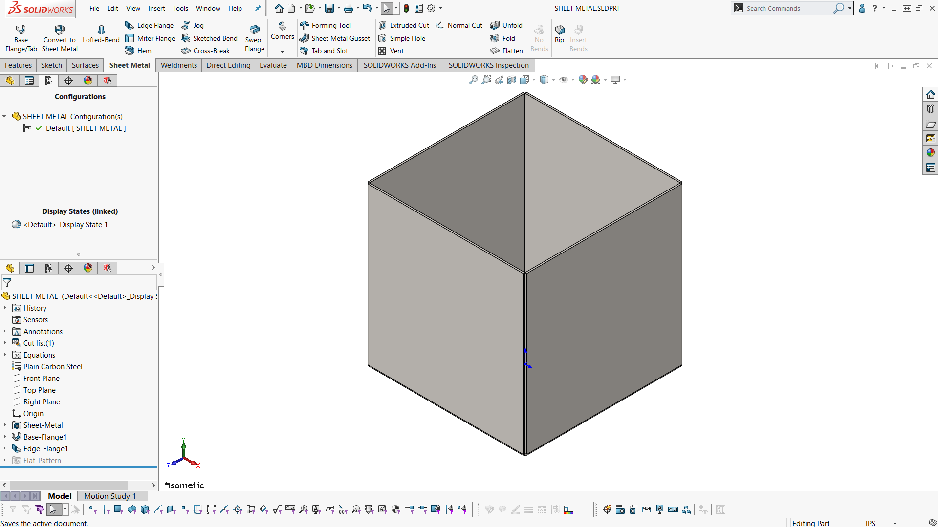 How To Automatically Create A Solidworks Flat Pattern