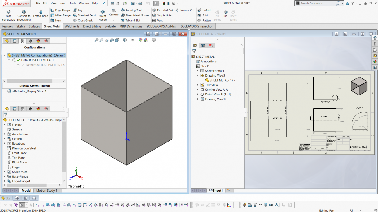 SOLIDWORKS Flat Pattern Configuration