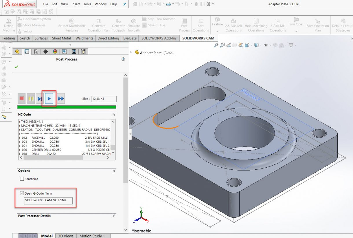 SOLIDWORKS CAM Post Process