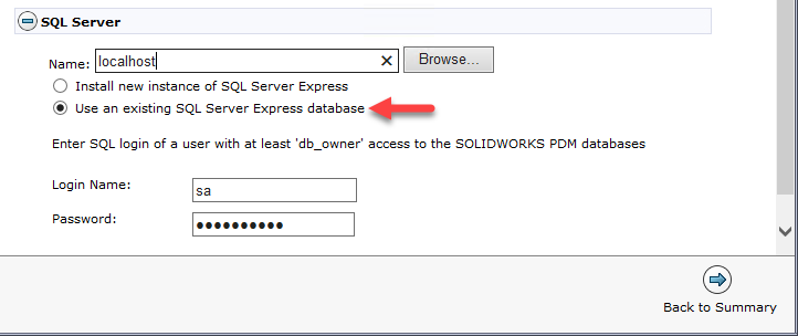 Installing SOLIDWORKS PDM standard