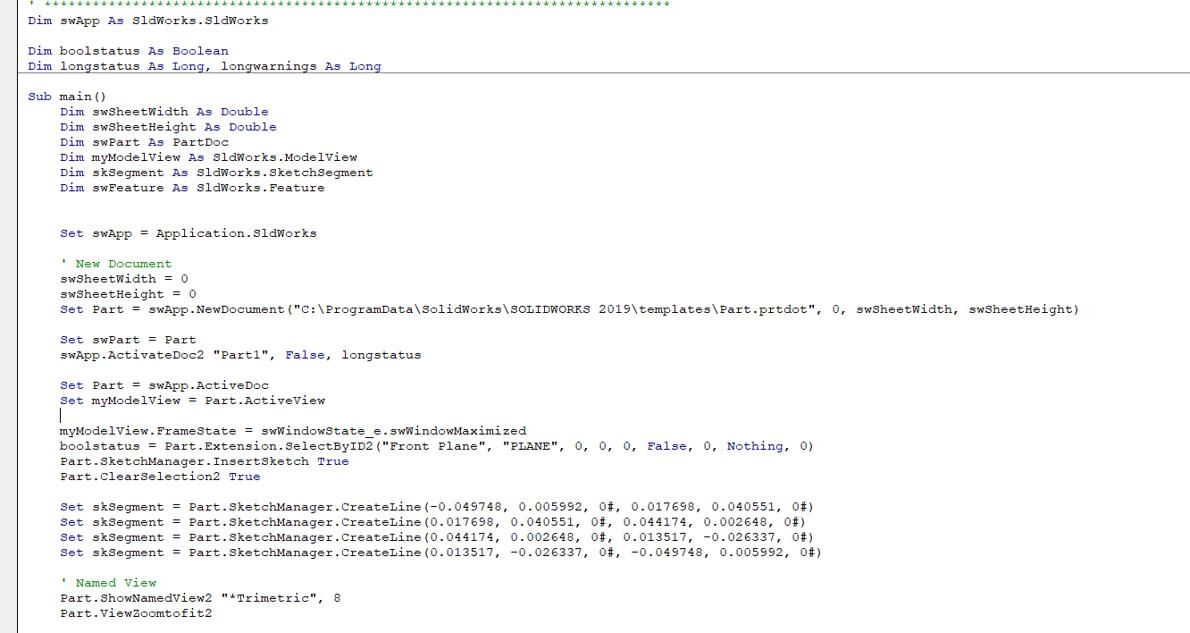 Sample Macro Code