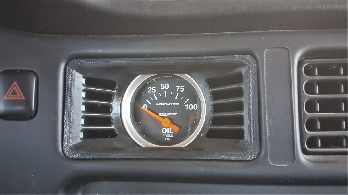 Gauge holder installed in my car