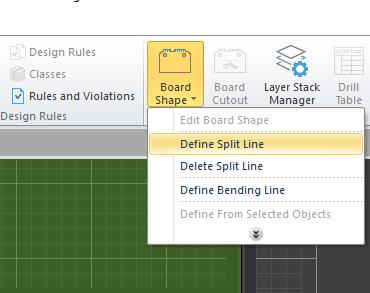 Define split line