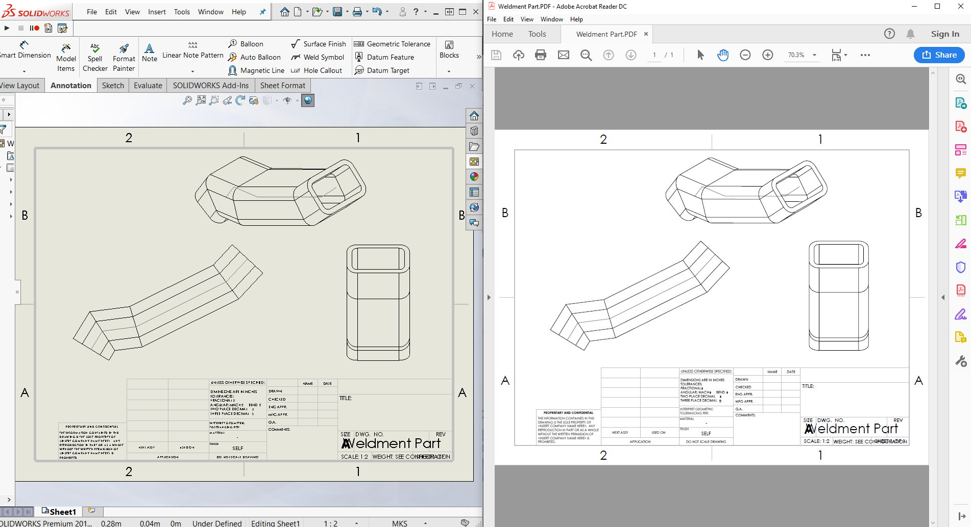 Save SOLIDWORKS Drawing to PDF Macro to automate the process