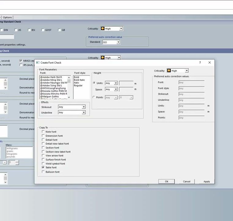 SOLIDWORKS standard compliance with the SOLIDWORKS Design Checker 2019