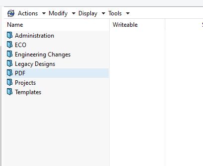 Blue folders for off-line mode