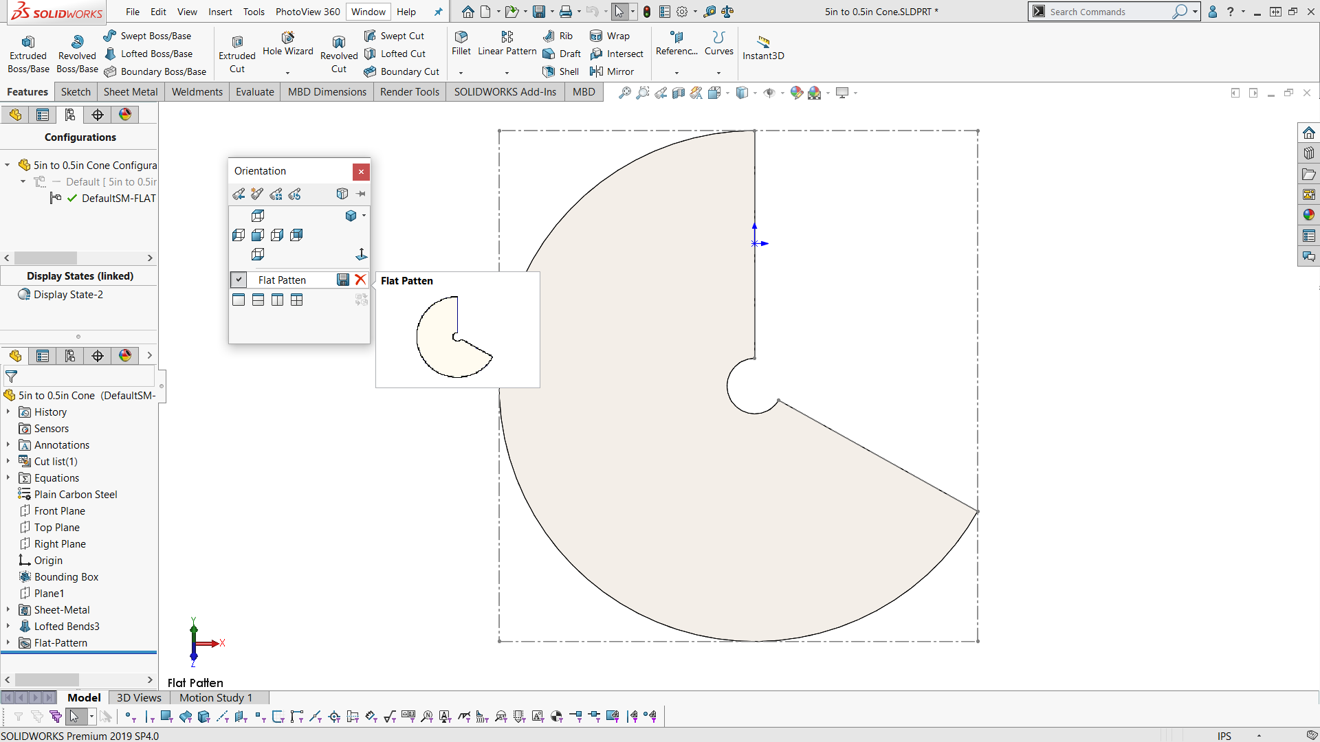 How To Make And Flatten A Sheet Metal Cone In Solidworks