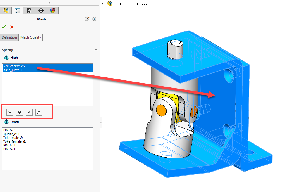 SOLIDWORKS Simulation 2020 Mesh Quality Tab