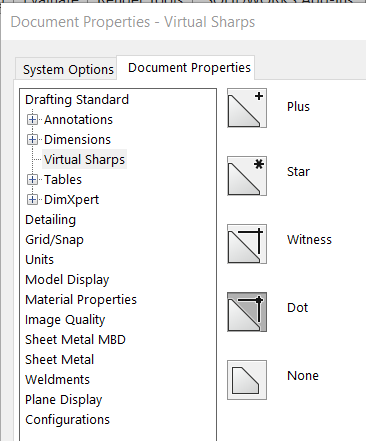 Virtual Sharp setting