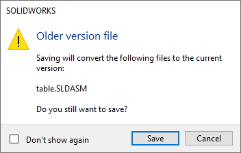 SOLIDWORKS 2020 Save Assembly without Referenced Files