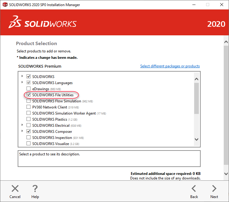 SOLIDWORKS File Utilities installation