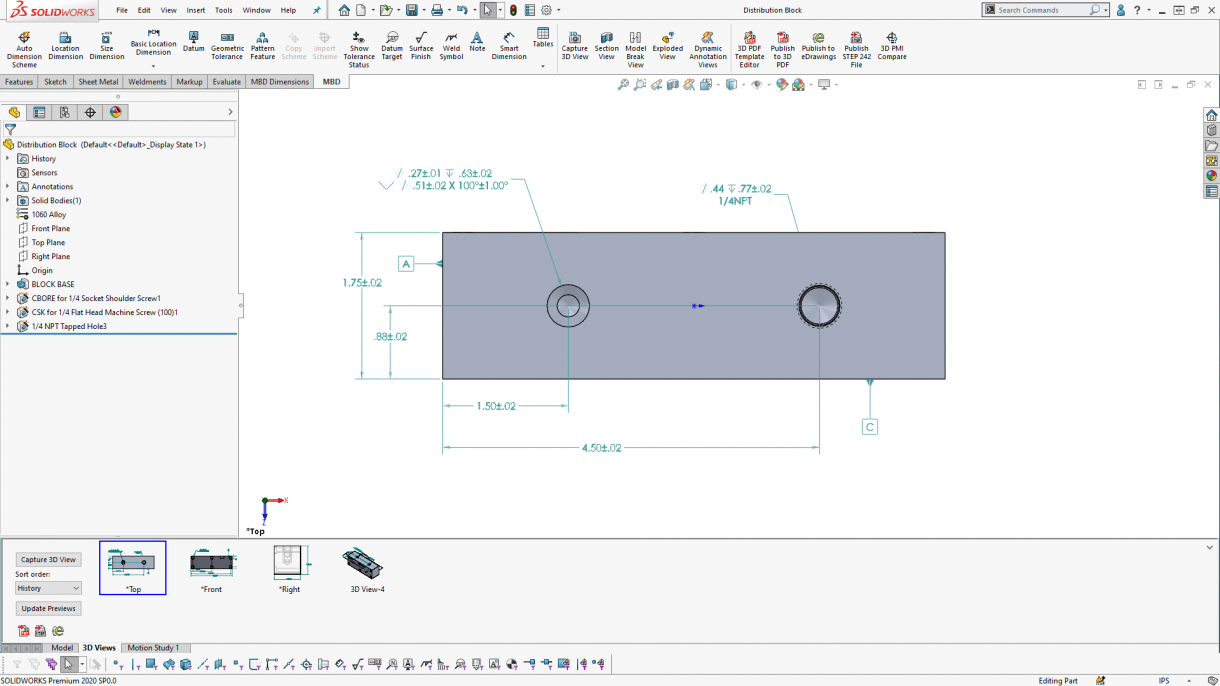 SOLIDWORKS Hole Pattern