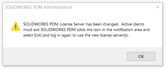 License Server has been changed