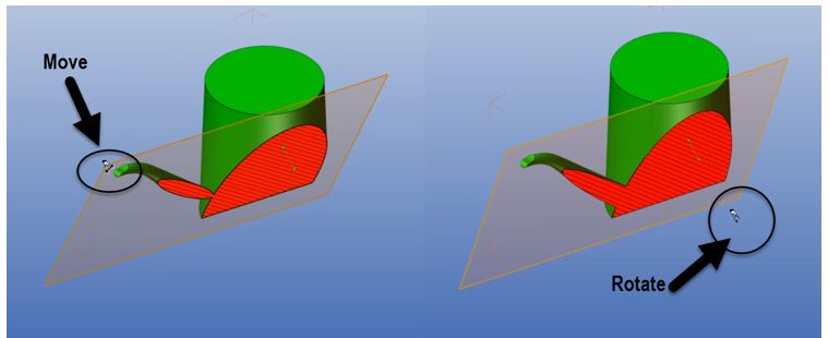 Move and Rotate the SOLIDWORKS Composer Section cutting plane