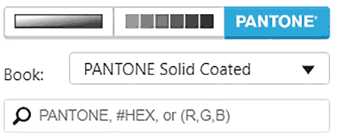 Search box for entering a color value