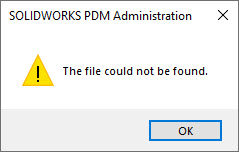 File not found message shown when trying to save a CEX file