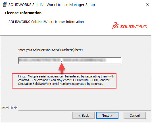 SolidNetWork License Manager Additional Serial Numbers