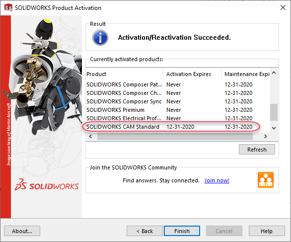 SOLIDWORKS Product Activation