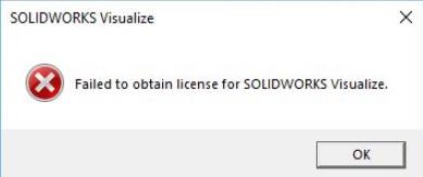 Failed to obtain license SOLIDWORKS error